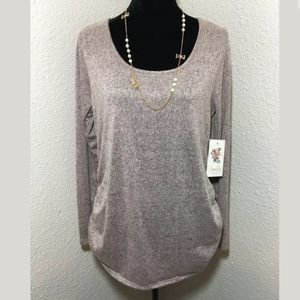 SIREN LILY MATERNITY SOLID SOFT PINK TOP SIZE L